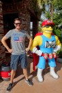 Ben with the Duff Man at Universal Studios Orlando, Florida