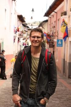Ben on La Ronda (known for it's restaurants) in Quito