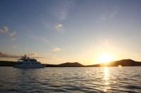 Our last sunset on the Seaman Journey Catamaran, Galapagos