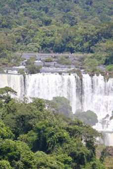 View of one of the Argentinian walkways at Iguazu Falls