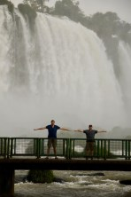 Ben and Matt at Iguazu Falls, Brazil