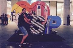 Ben and Matt goofing around in Sao Paulo