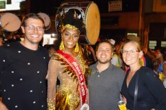 Sao Paulo carnival - Juliana got us a picture with one of the 'Parade Queens'