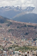 View of La Paz, Bolivia with the mountains in the background