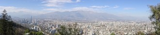 View of Santiago from the top of the funicular, Chile