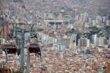 View of La Paz and the teleferico from El Alto, Bolivia