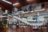 The bottling process at Bodega Lopez, Maipu, Argentina