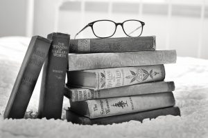 stack-of-books-vintage-books-words that work