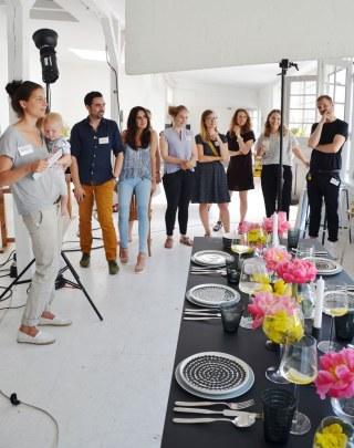 Blogger beim Schoener Wohnen-Workshop-annablogie