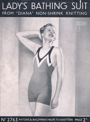 Knitting bathing suit