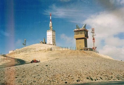 Summit of Mont Ventoux, 1989 (photo © Annabel Gaskell)