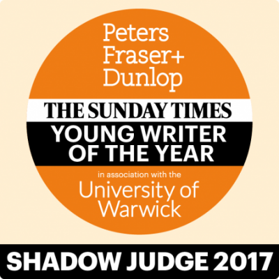 The Peters Fraser Dunlop Sunday Times Young Writer of the Year Prize 2017