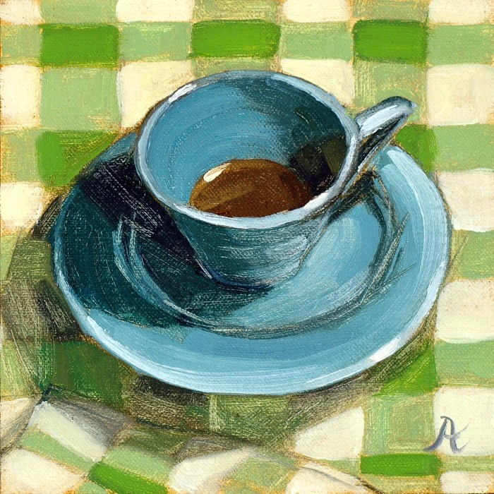 Turquoise-Teacup-on-Gingham