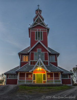 Buksnes wooden church built in 1905