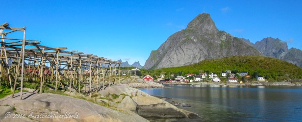 Reine with its cod drying racks