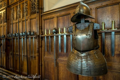 Armor and swords in the Great Hall