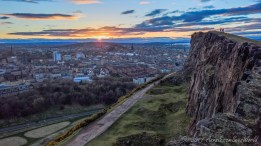 Climbing to see the sunset from Salisbury Crags