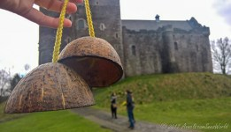 We had to play little with the coconut shells like they did in the Monthy Python and the holy grail film to mimic the sound of riding a horse to the castle :D