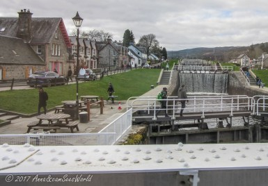 Fort Augustus with start of Caledonian Canal