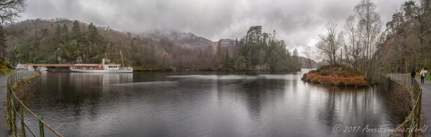 We took a rainy walk by Loch Katerine in the Loch Lomond & The Trossachs National Park