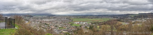 Scenery over the city of Stirling