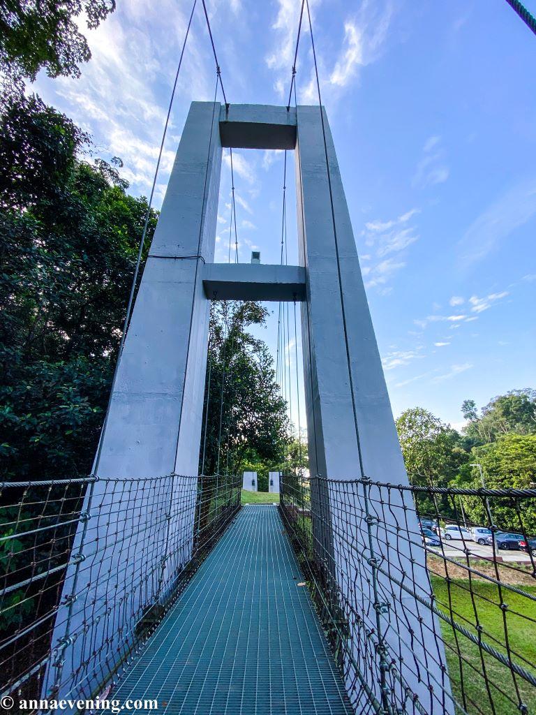 A steel bridge at taman rimba bukit kerinchi