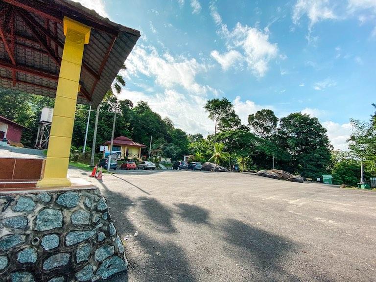 An empty parking lot at Gunung Datuk