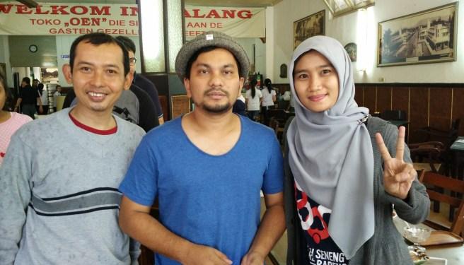 Ketemu dengan Tompi di Toko Oen, Malang.