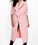 Manteau long rose