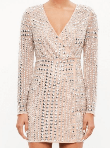 robe nude cloutée