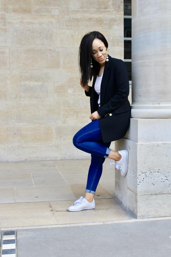 inspiration look blazer et jeans