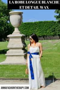 robe longue blanche d'été