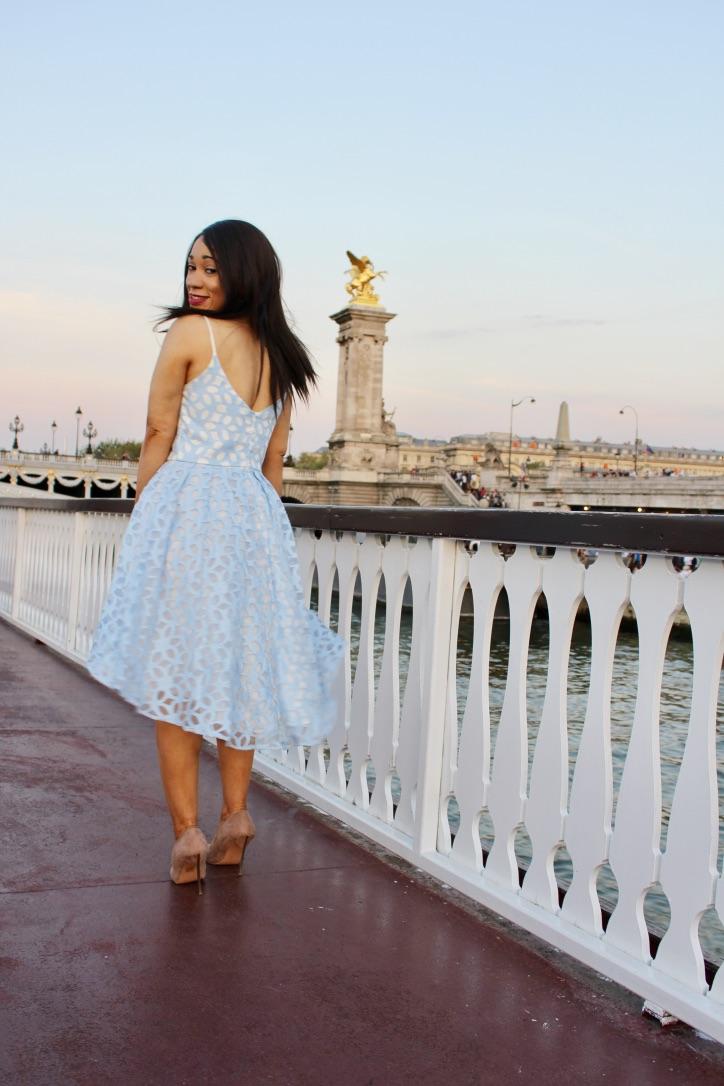 robe bleu ciel