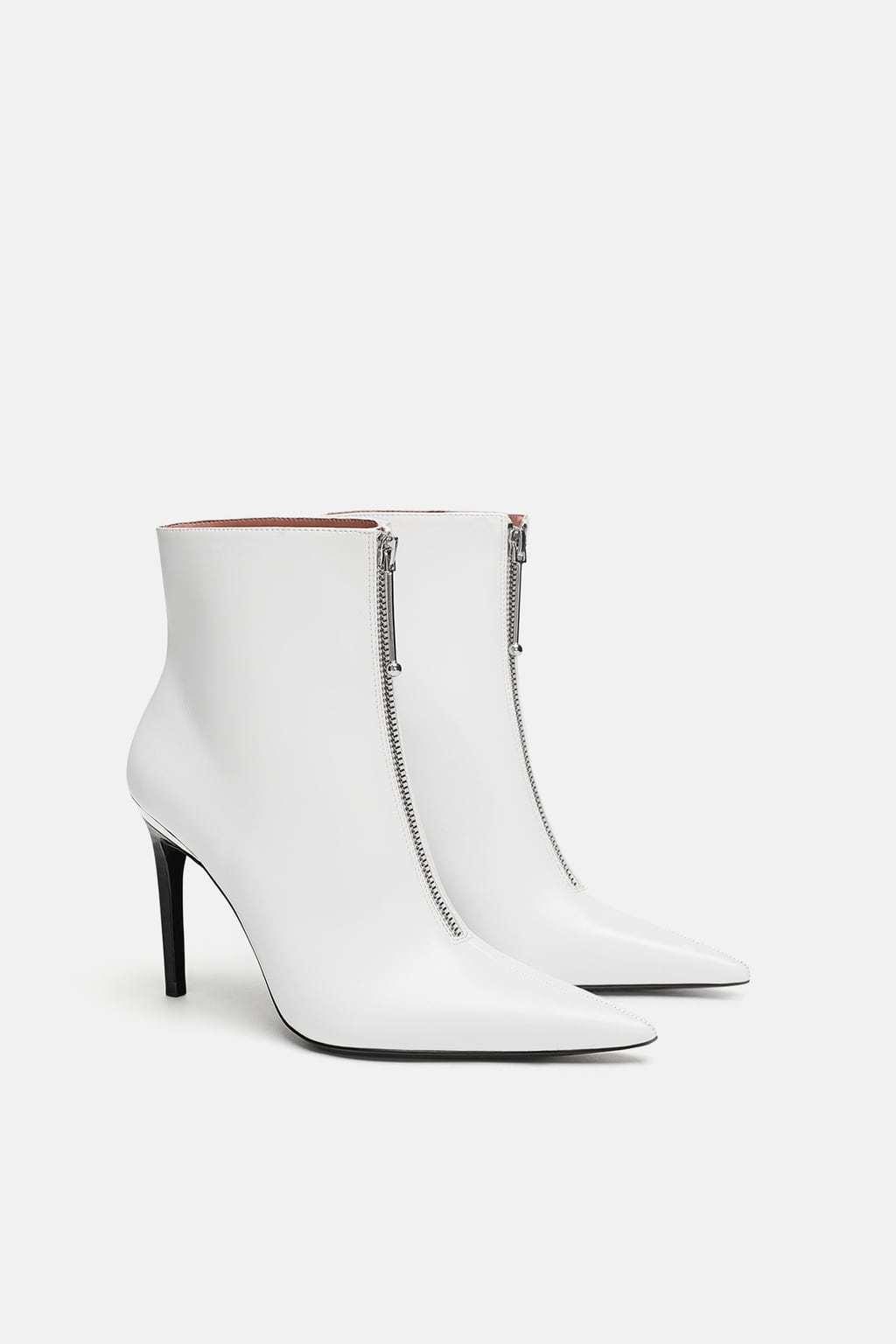 bottines blanches zara