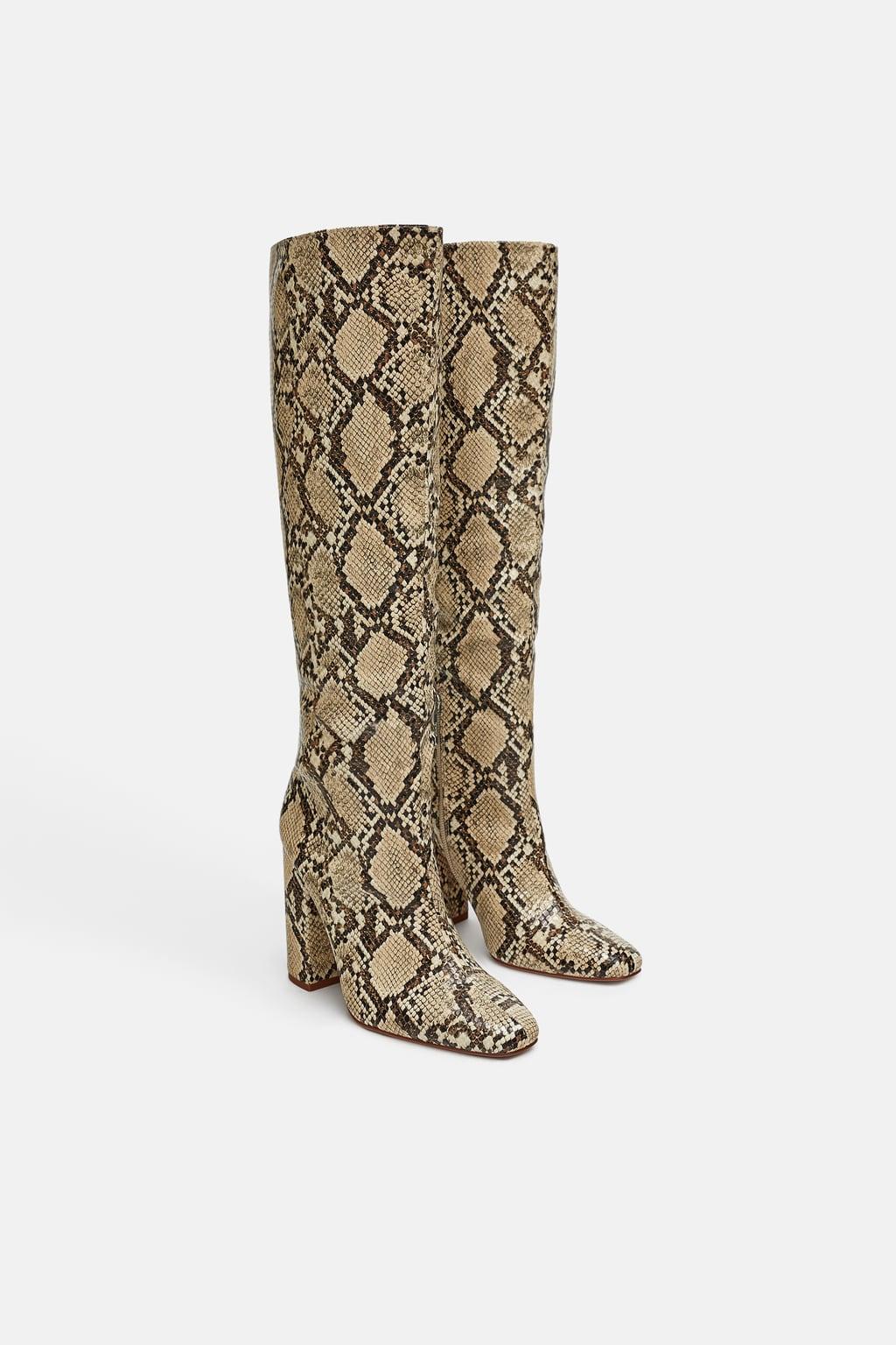 bottes imprimé serpent