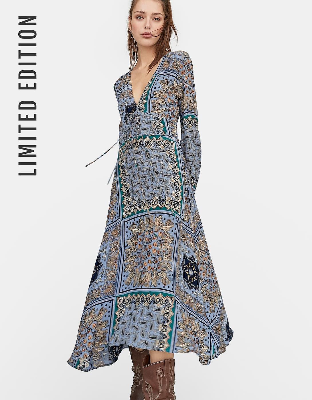 robe imprimé fleurs stradivarius