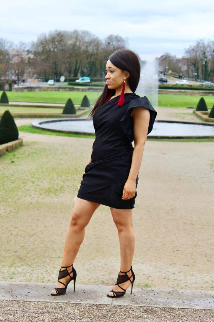 look de fêtes la robe noire