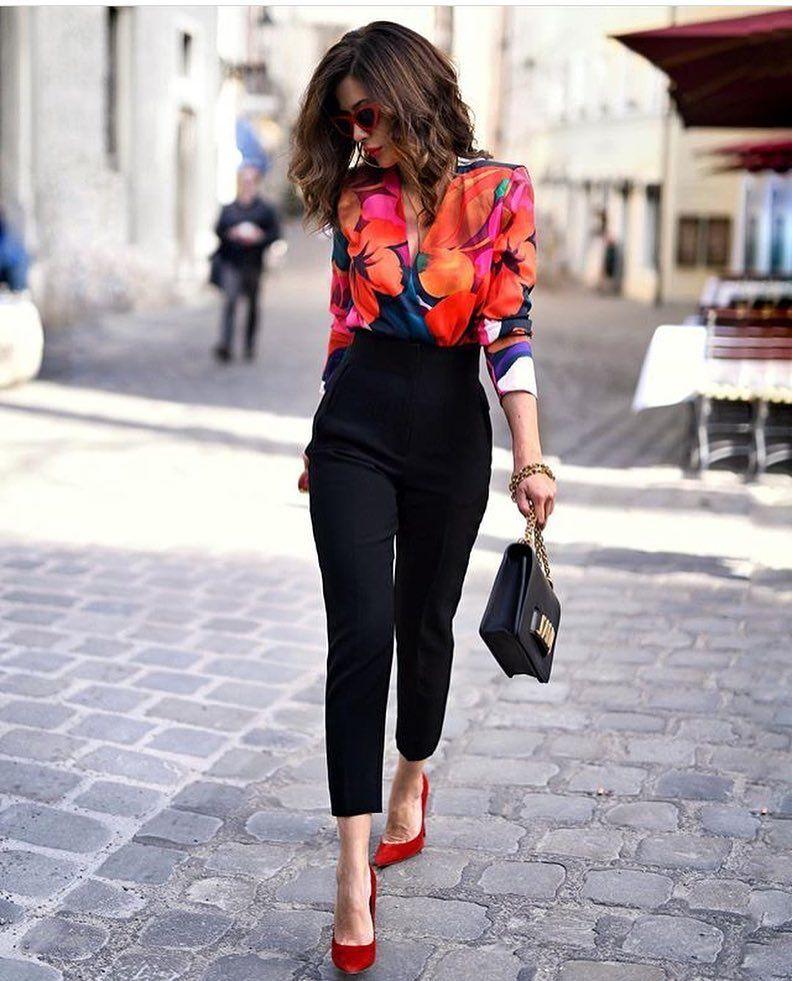 look pantalon noir