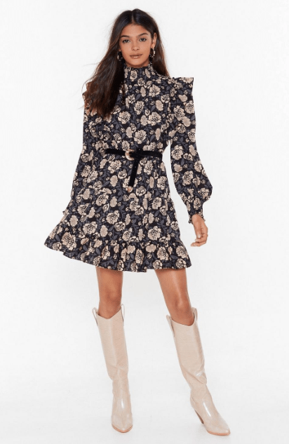 robe à volants nasty gal