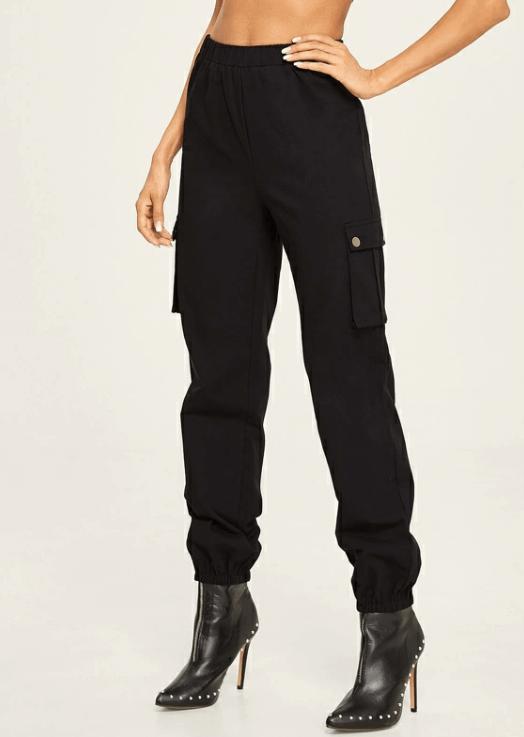 Pantalon cargo noir Shein