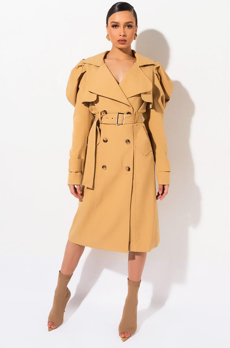 trench coat manches bouffantes akira