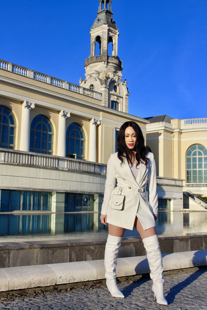 mode femme total look blanc