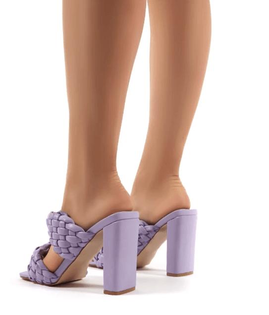 mules torsadées violet public desire