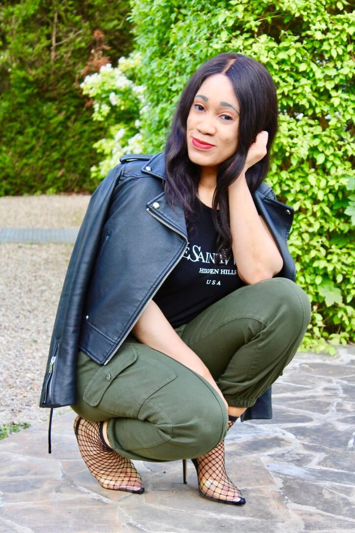 pantalon style utilitaire femme luxe