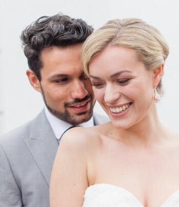 bride and groom at number 16 Firmdale Hotel