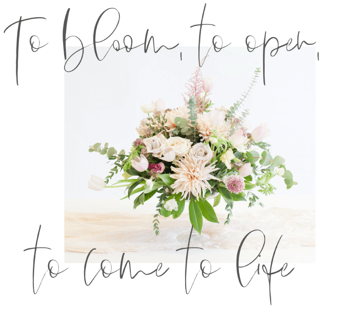Table Flower Arrangement with dahlias, roses, tulips