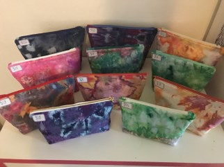 Ice Dyed Cosmetic Bags