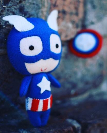 Captain America Felt Figure