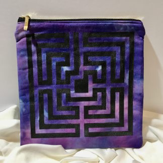Labyrinth Hand Stencilled Bag