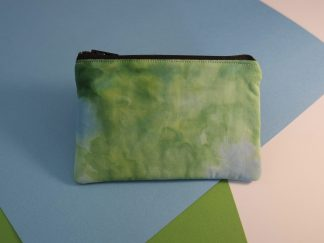 Hand Dyed Green and Blue Coin Purse